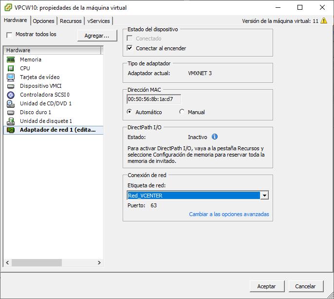 Migrar red de máquinas virtuales del vCenter Server de forma manual