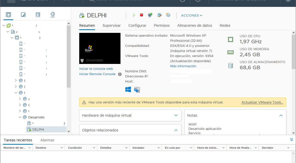 Actualizar VMware vCenter Server 6.0 a 6.7 para solucionar acceso web sin Flash Player