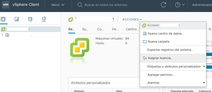 Licenciar VMware vCenter Server