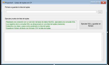 Trabajando con listas y tuplas en C# para almacenar datos en memoria