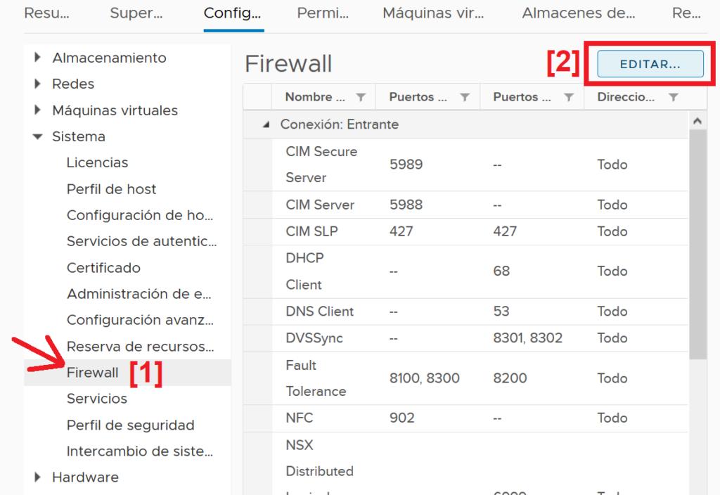 Habilitar acceso a la consola shell de comandos del host ESXi por SSH