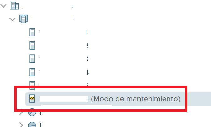 Reiniciar el servidor ESXi desde la línea de comandos, activar el modo mantenimiento