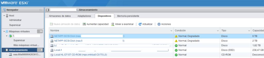 Realizar conexión de servidor ESXi con SAN NetApp mediante iSCSI