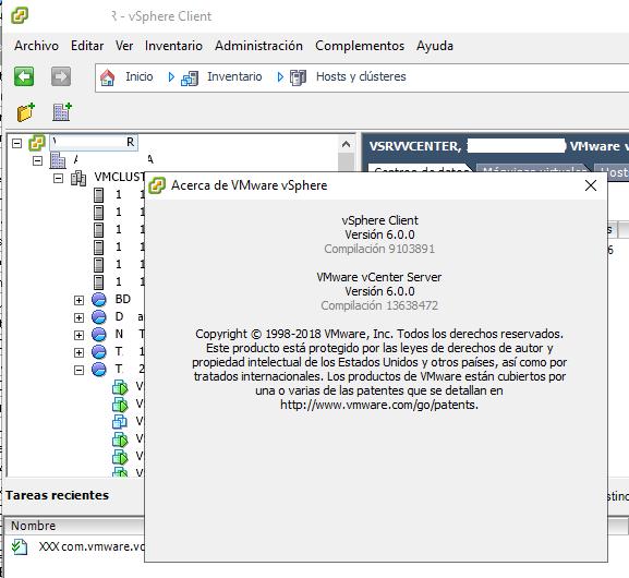 Acceso al nuevo entorno vCenter Server 6.0 mediante VMware vSphere Client