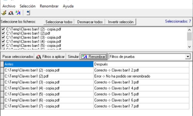 AjpdSoft Renombrar Ficheros Múltiples Código Fuente Source Code Delphi 6