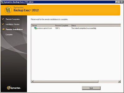 Añadir servidor y equipo a servidor de copia de seguridad Symantec Backup Exec 2012, instalar agente remotamente