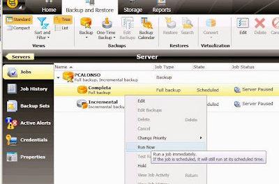 Añadir servidor y programar tarea de copia de seguridad en Symantec Backup Exec
