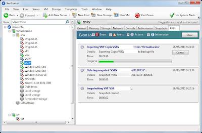 Clonar máquina virtual XenServer a otro servidor en caliente, copia de seguridad