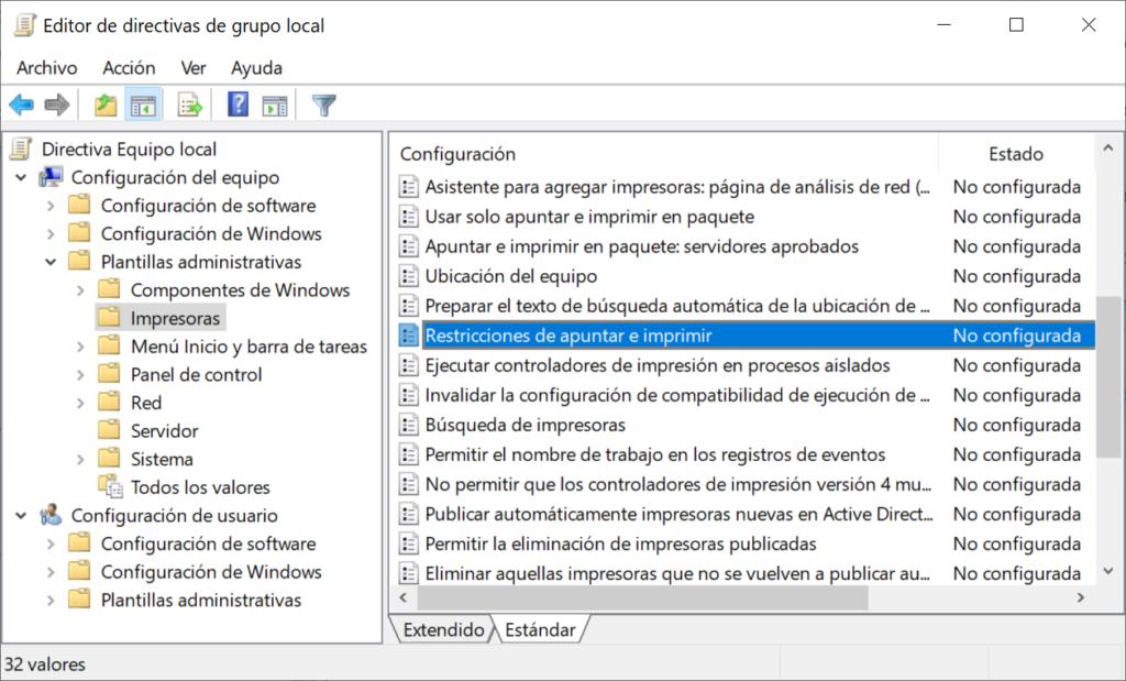 Solución definitiva para el  error  0x0000011b en las impresoras del servidor de impresión Windows