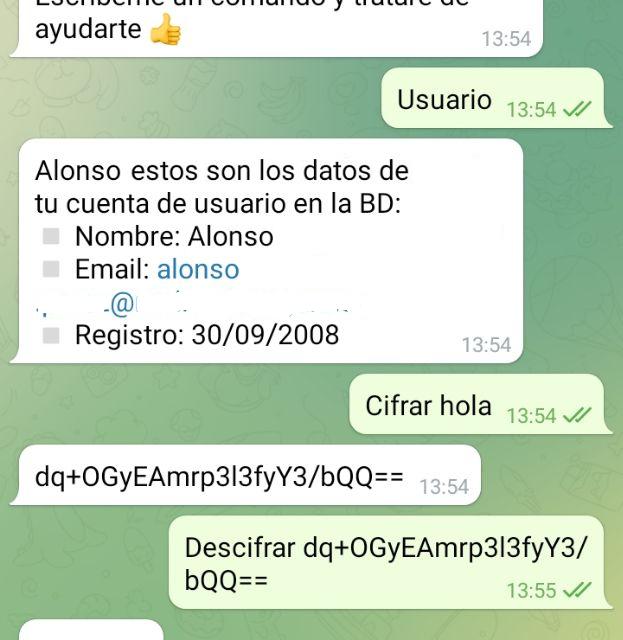 Aplicación multihilo C# que lee y envía mensajes a Bot de Telegram y accede a MySQL