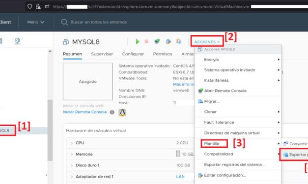 Exportar máquina virtual a OVF y OVA en Vmware ESXi 6.7 tanto vía web como por comando OVF Tool