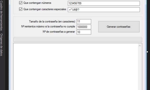 Cómo generar contraseñas aleatorias con aplicación C# C Sharp de .NET
