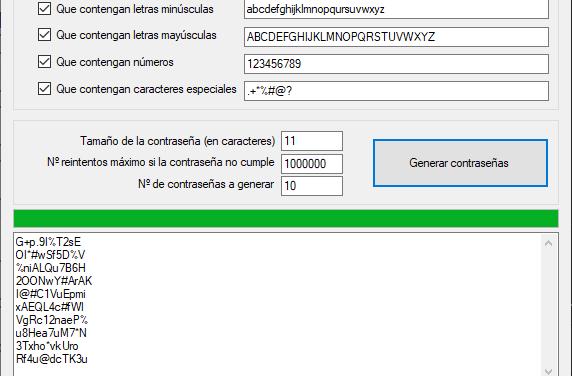 Generador de contraseñas aleatorias Código Fuente C# C Sharp